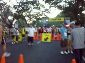 starting line, while waiting for jopeng