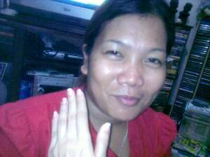 Darlene & my small left hand.  Contact her 09097416154. Sheis really good!