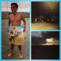 The bubbly Second Wind Station with triathletes and veteran runners offering drinks, chips, fruits and ____ . I don't know really know what he was offering cause I just grabbed this from Hector Yuzon's IG.  I am sure everyone who passed by either ran faster or stayed longer...:P