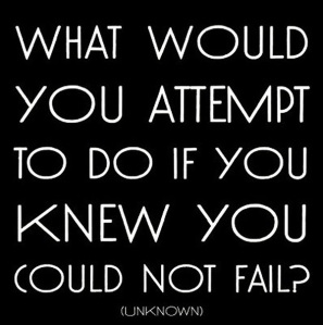 What would you attemp to do if you knew you could not fail?