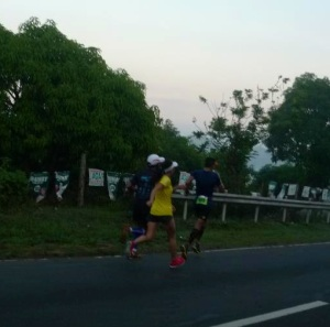 Chasing the Champ Arland Macasieb at the PAU T2N 50K Ultramarathon.  That counts as a run workout!