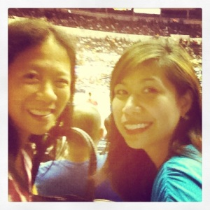 College best friend Jona. Our short get together was spent on the PBA court watching Siot's Ginebra game.