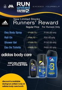 Run United 2 Promo Adidas Body Care booth