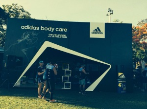 Adidas Body Care booth at Run United 2
